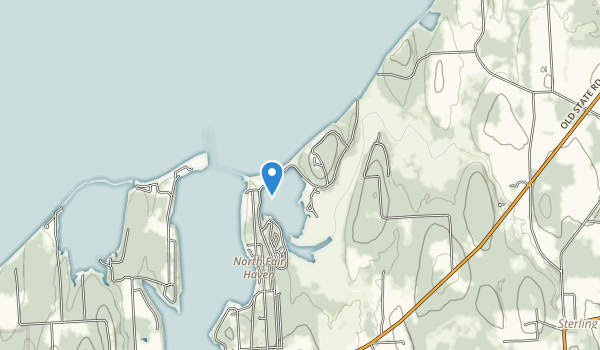 trail locations for Fair Haven Beach State Park