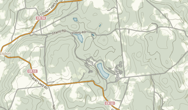 Gilbert Lake State Park Map