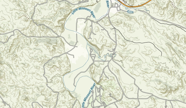 Sully Creek State Recreation Area Map