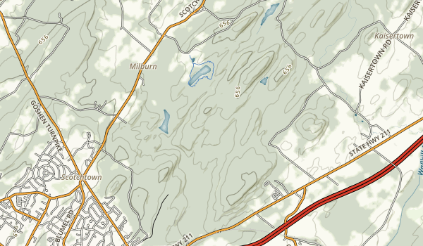 Highland Lakes State Park Map