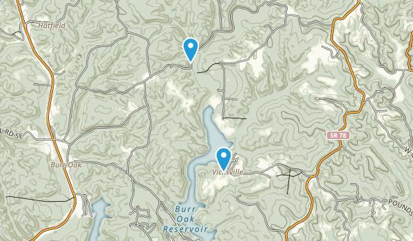 Burr Oak State Park Map