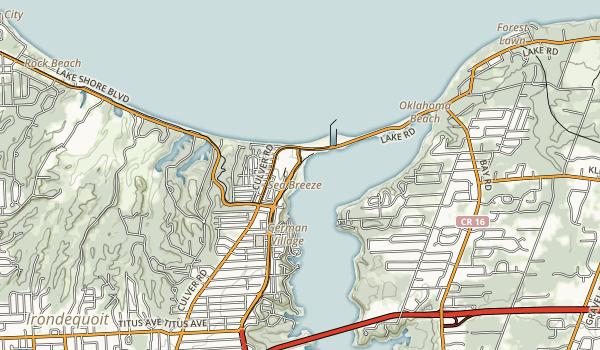 Irondequoit Bay State Marine Park Map
