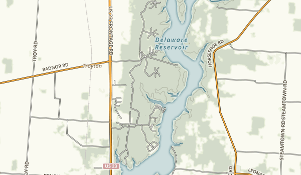 Delaware State Park Map