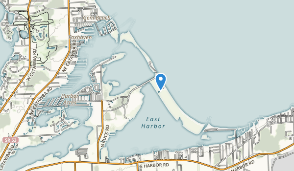 trail locations for East Harbor State Park
