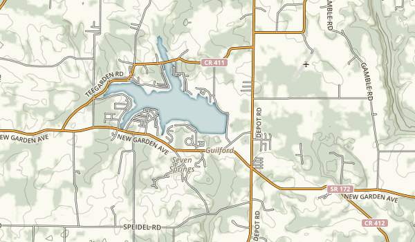 Guilford Lake State Park Map