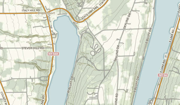 Keuka Lake State Park Map
