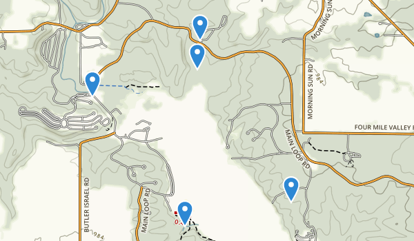 trail locations for Hueston Woods State Park