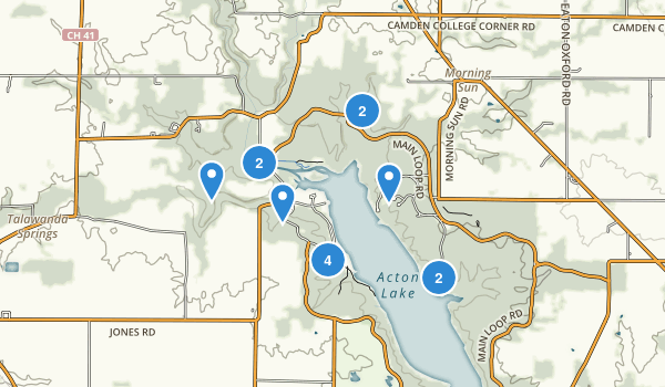 Hueston Woods State Park Map
