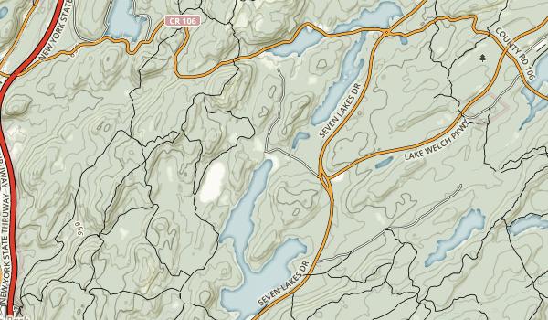 Lake Sebago Beach - Harriman State Park Map
