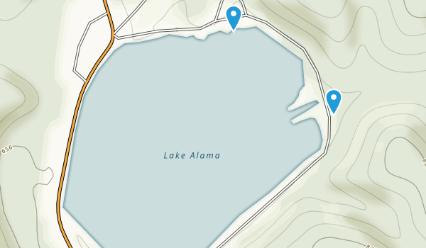 Lake Alma State Park Map