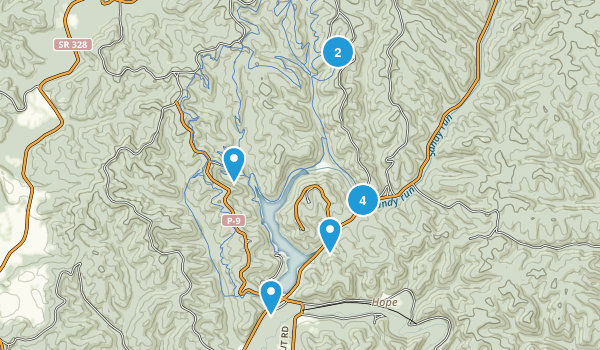 Lake Hope State Park Map