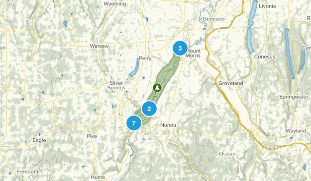 Parque Estatal de Letchworth Map