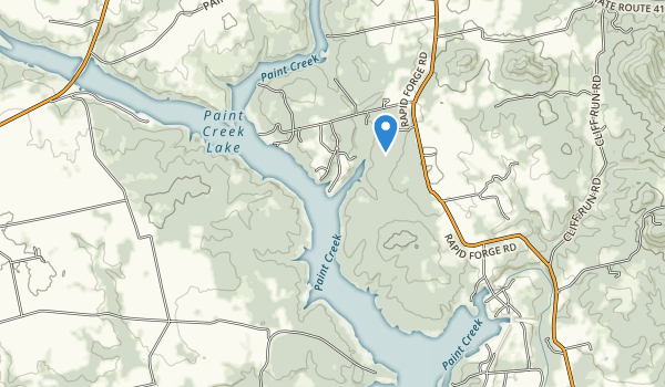 trail locations for Paint Creek State Park