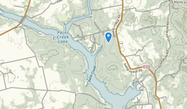 Paint Creek State Park Map