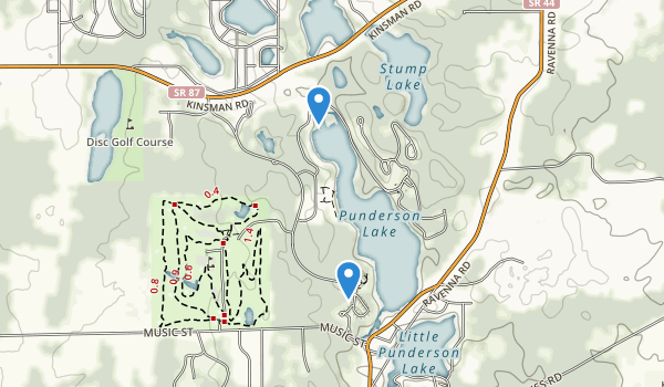 Punderson State Park Map