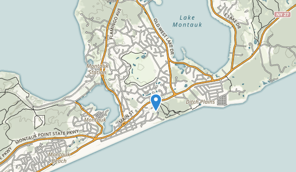 trail locations for Montauk Downs State Park
