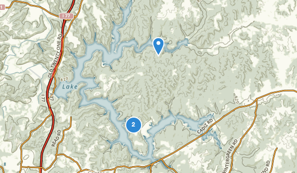 trail locations for Salt Fork State Park