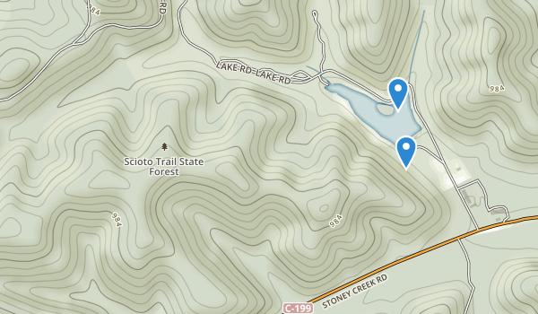 trail locations for Scioto Trail State Park