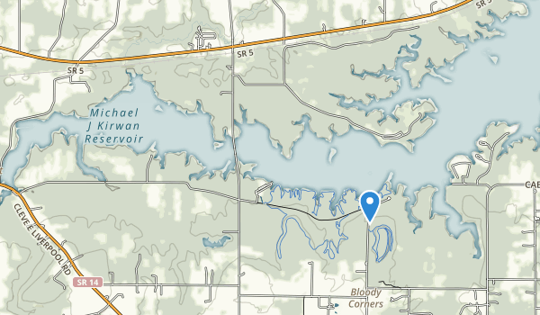 trail locations for West Branch State Park