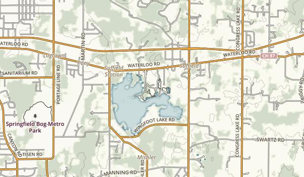Wingfoot Lake State Park Map