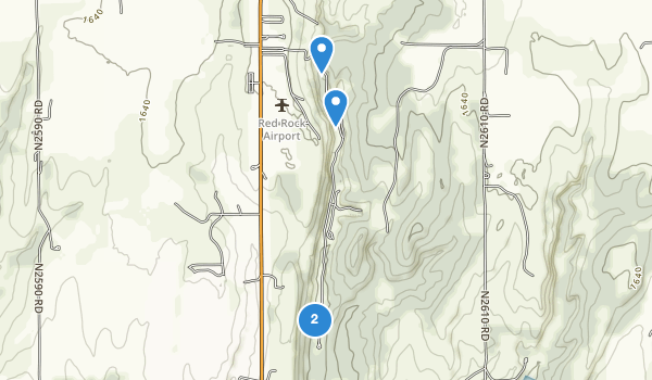 trail locations for Red Rock Canyon State Park