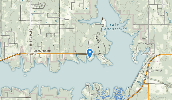 trail locations for Lake Thunderbird State Park