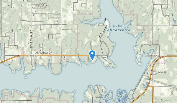 Lake Thunderbird State Park Map