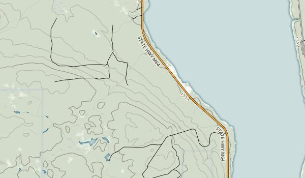 Lake Gogebic State Park Map