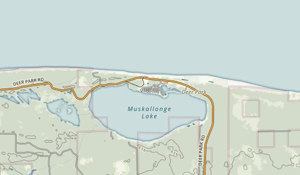 Muskallonge Lake State Park Map