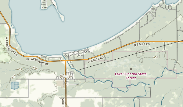 Brimley State Park Map