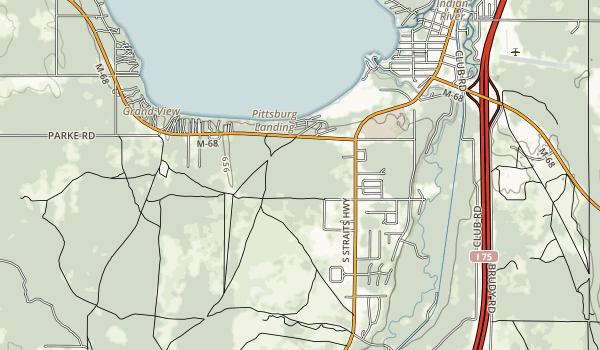 Burt Lake State Park Map