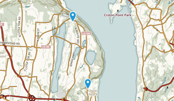 Nyack Beach State Park Map