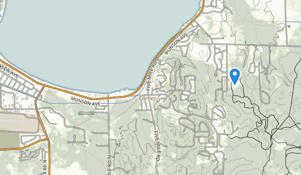 trail locations for Traverse City State Park