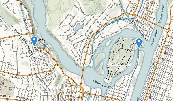 trail locations for Peebles Island State Park