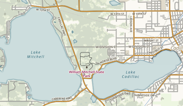 William Mitchell State Park Map