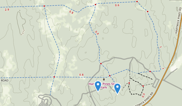 Hartwick Pines State Park Map