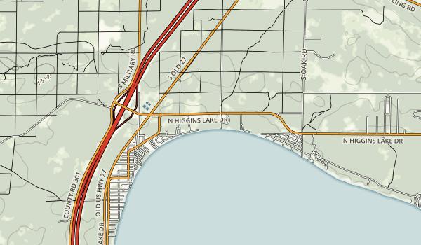 North Higgins Lake State Park Map