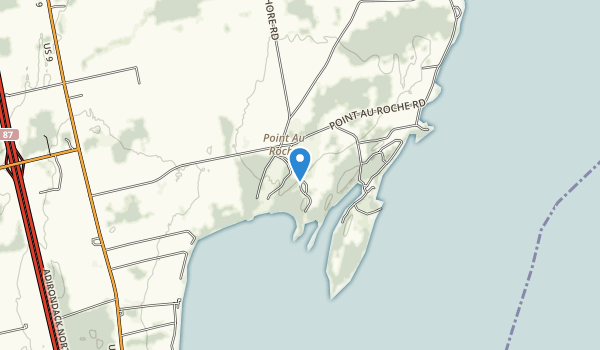 trail locations for Point Au Roche State Park
