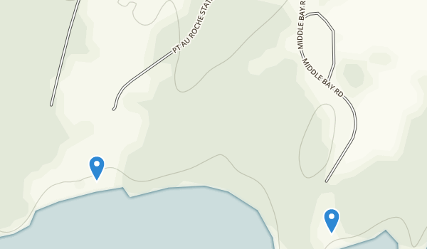 Point Au Roche State Park Map