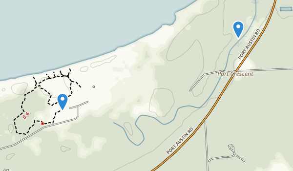 Port Crescent State Park Map