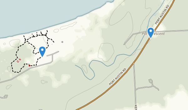 Port Crescent State Park Map
