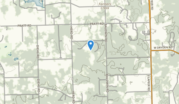 trail locations for Metamora-Hadley Recreation Area