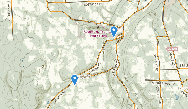 trail locations for Robert H. Treman State Park
