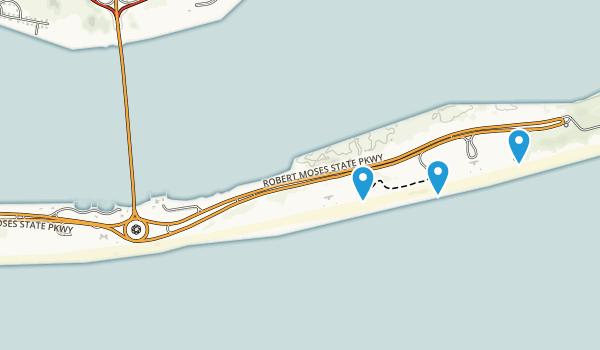 Robert Moses State Park - Long Island Map