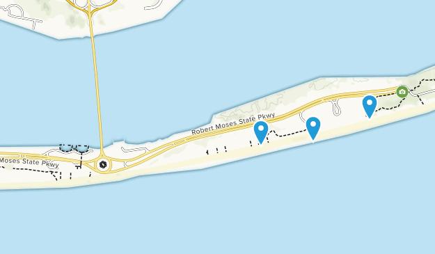 Robert Moses State Park Long Island Map