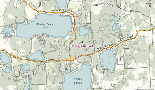 Hayes State Park Map