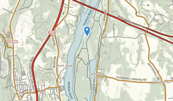 trail locations for Schodack Island State Park