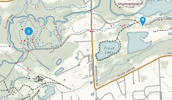 Island Lake Recreation Area Map