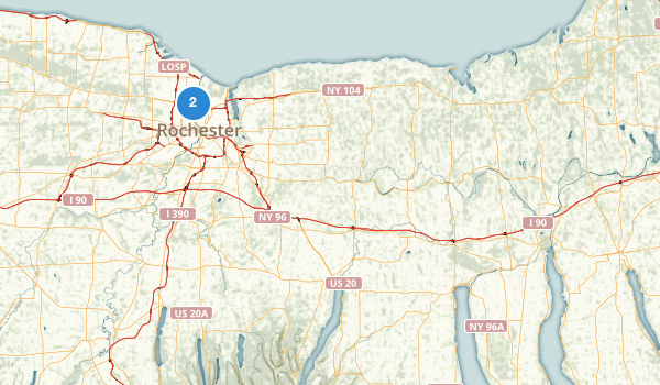trail locations for Seneca Lake State Park