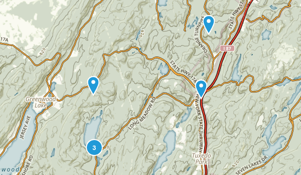 Sterling Forest State Park Map